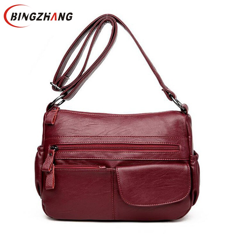 Brand Women Messenger Bags Shoulder Designer High Quality Leather Bags Women Double Zippers Crossbody Bags New Sac Femme L4-3127 dizhige brand lock women messenger bags flap crossbody bags women high quality pu leather shoulder bag ladies new sac femme 2017