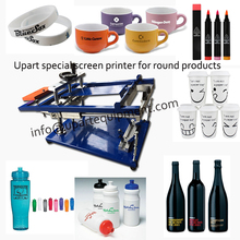 plastic bucket screen printing machine by hand special for printing round products