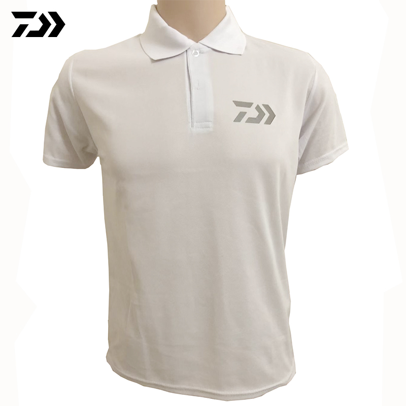 2020 Daiwa Clothing Summer Sports Polo Tee Fishing Tshirt Reflective Breathable Outdoor Running Fishing T-shirt Cycling Men Tops