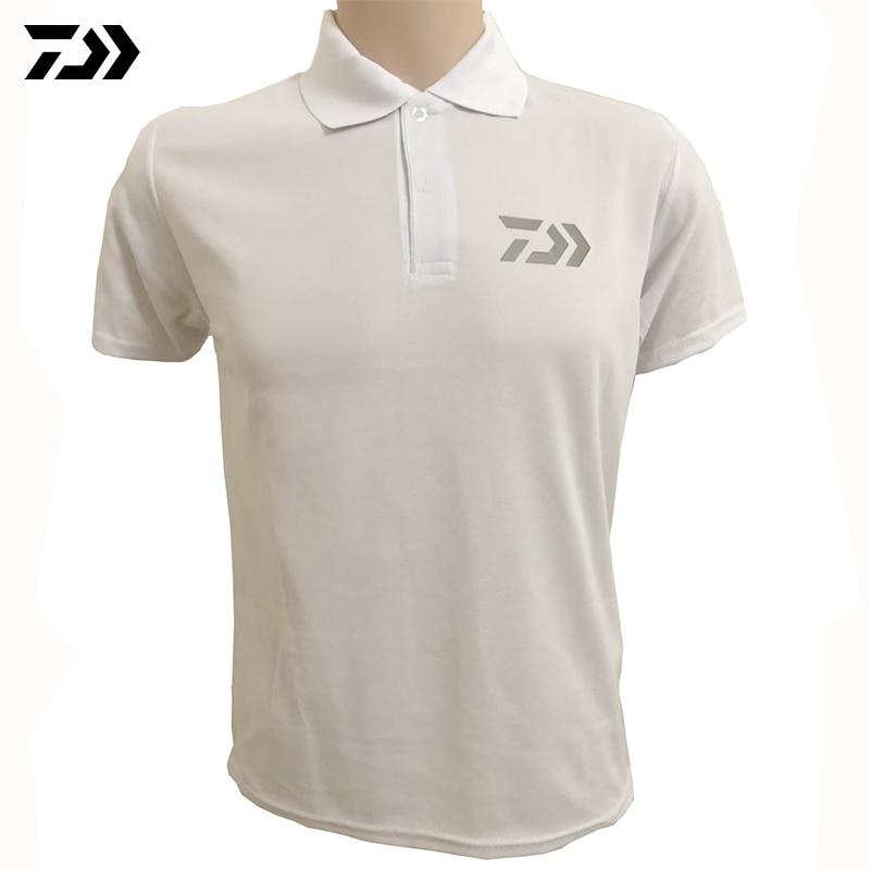 2020 Daiwa Clothing Summer Sports Polo Tee Fishing Tshirt Reflective Breathable Outdoor Running Fishing T-shirt Cycling Men Tops