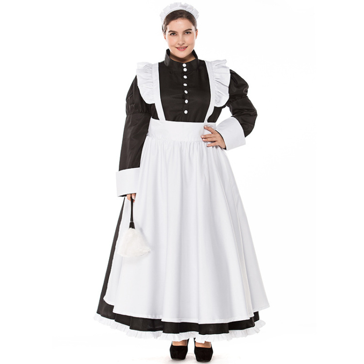 029d8c0076d Umorden Deluxe Victorian Maid Costume Colonial Women Dress Apron Plus Size  XXXL Halloween Classic Costumes Cosplay