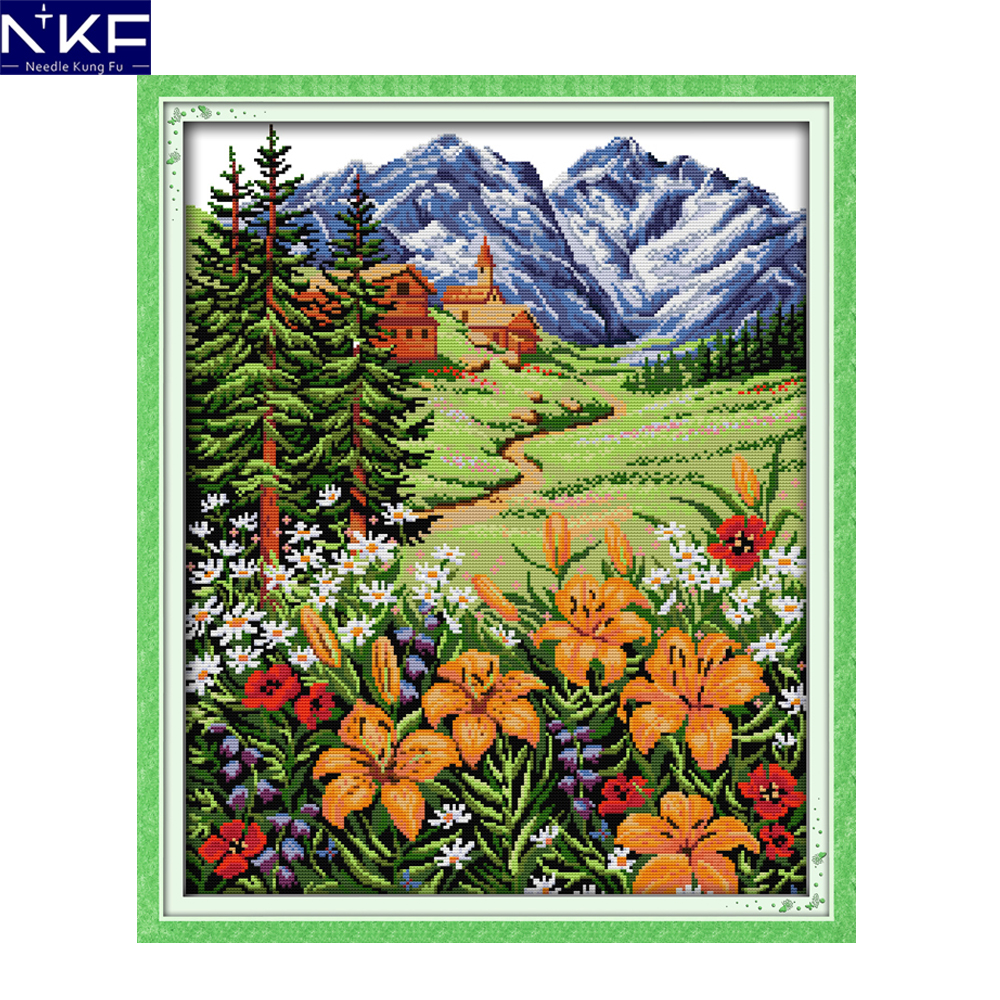 Nkf Snow Mountain In Spring Pattern Needlework Cross