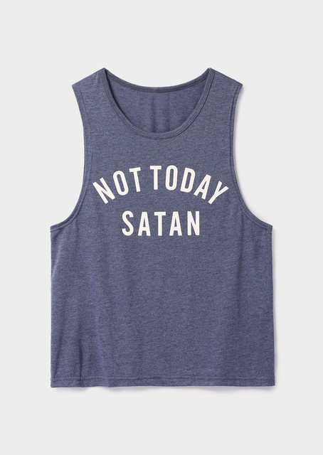 1d10c5993 Fashion Women Tank Tops Not Today Satan Letter Print Tank Summer Casual  Female Sleeveless t shirt