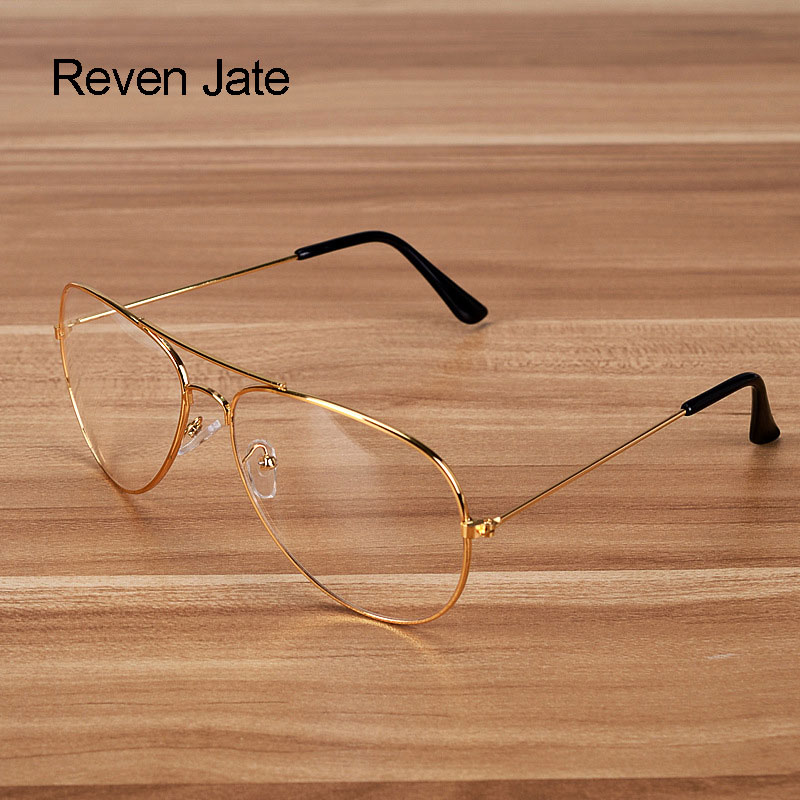 Reven Jate Fashion Alloy Frame Optical Stylish Eyeglasses Frame For Men Glasses Optical Prescription Eyewear Man Spectacles
