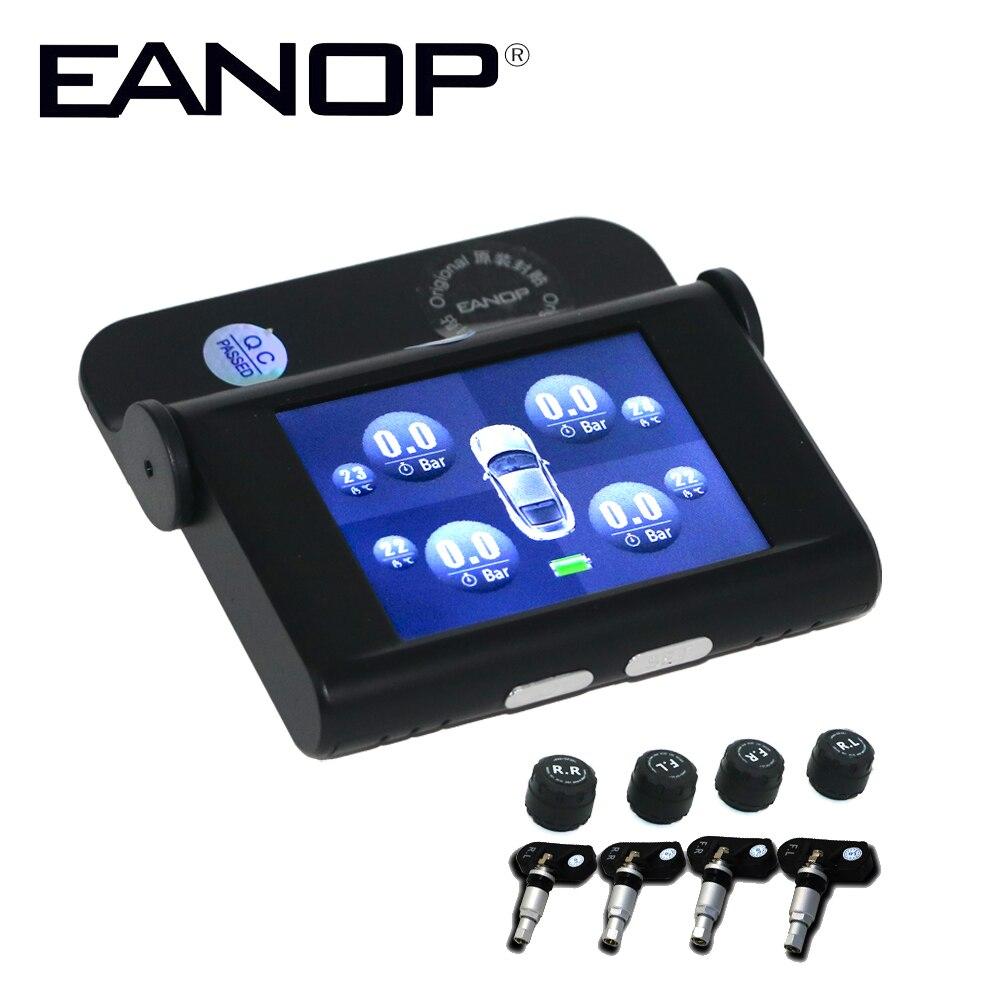 Eanop EN368 TFT 2,4 дюймов Экран автомобилей TPMS шин Давление мониторинга Системы внутренних внешних датчиков сигнализация ADAS Max 5Bar 73PSI