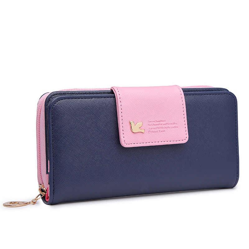 4200a5d7103 Fashion Wallets Women PU Leather Ladies Purses Female Brand Long Zipper  Coin Purse Women Wallet Card Holder Colorful Clutch Bag