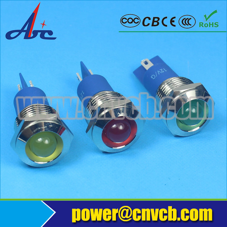 IN82 hot-sell 14mm inclined head IP67 20mA indicator light 36V pilot lamp