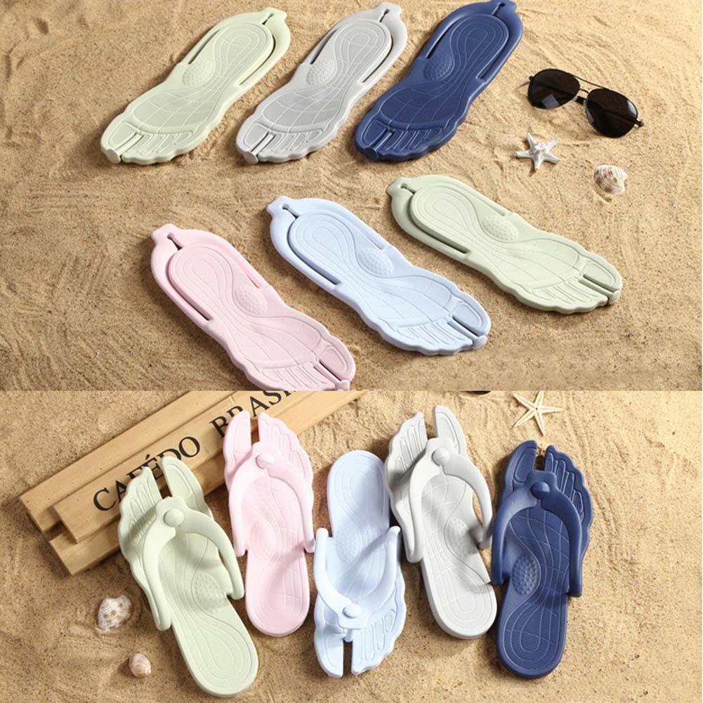 Summer Folding Slippers Travel Portable Home Flip-flops Swimming Beach Lightweight Slipper J2Y flip-flops