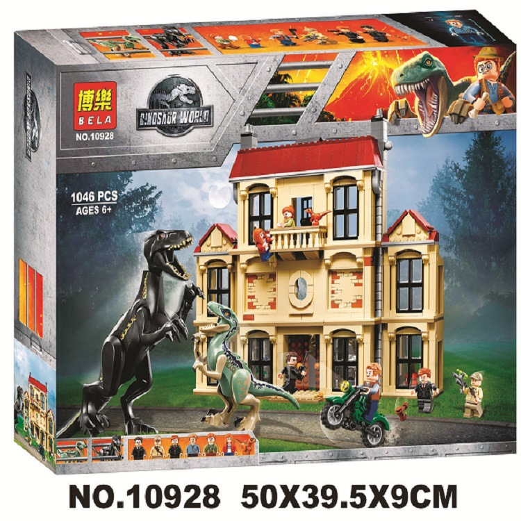 2018 Nouveau Monde Jurassique 2 Indoraptor Saccage à Lockwood Immobilier Building Block Brique Jouets Enfants Compatible Avec Legos 75930 - 6