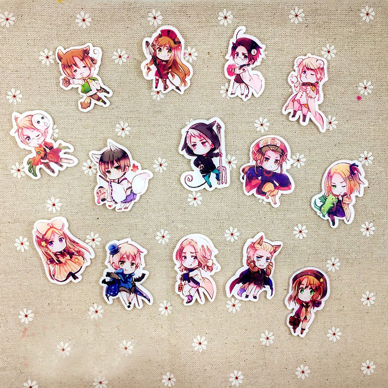 Axis Powers Hetalia Acrylic Badges Set Irregular Icon APH Breastpin Pins Country Mumber Backpack Clothes Decor Brooches
