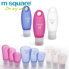M Square Travel Accessorie for Silicone Bottles Plastic Empty Cosmetic Containers Set Refillable Squeeze Bottle Empty Tube