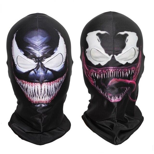 Veneno Spiderman Máscara Cosplay Homem Aranha Preto Edward Brock Escuro Superhero Veneno Máscaras Capacete Adereços Halloween Party DropShipping
