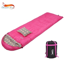 Desert&Fox 3 Season Sleeping Bag 210*75cm Portable Lightweight 1.5kg Compression Sack with Pillow for Women Travel Camping