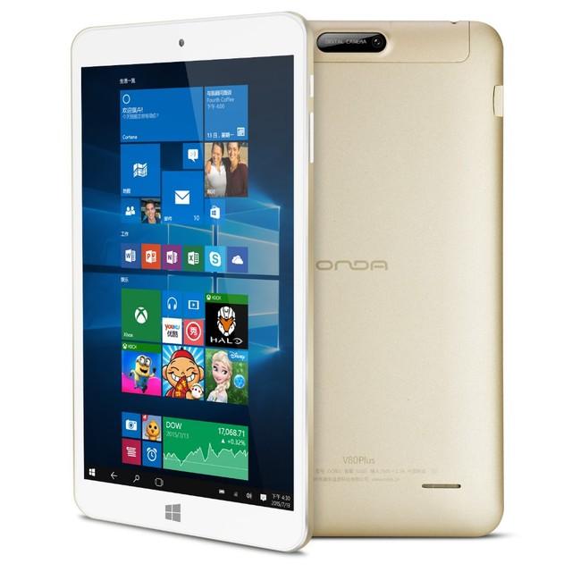8inch IPS1920*1200 Onda V80 Plus Tablet PC Dual OS Win10 Android 5.1 Z8350 Quad Core 2GB RAM 32GB ROM HDMI 2.0M Camera Bluetooth