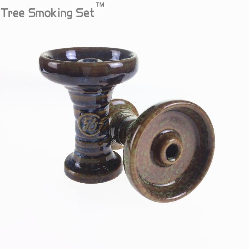 קרמיקה קערת פחם נרגילה נרגילות ראש אביזרי משלוח חינם בצורת קערה שישה נרגילה צבע אקראי