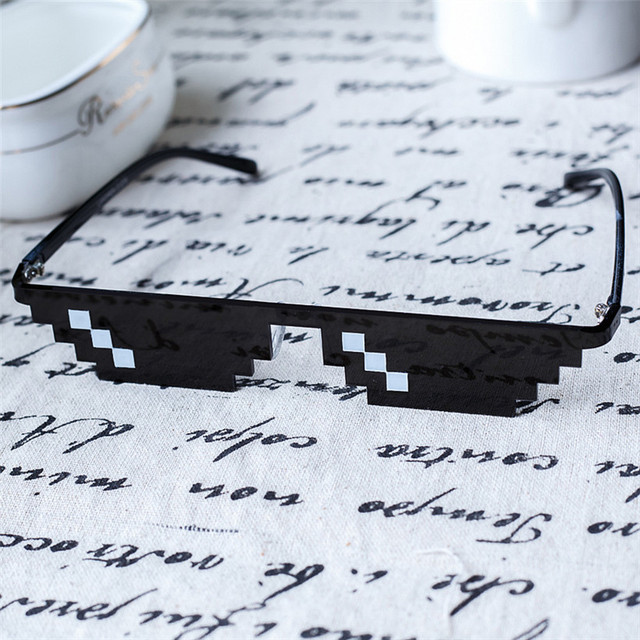 New arrival Deal With It Sunglasses 8 Bits Style Pixel thug life Glasses Men's Women's Nerd Geek Sun Glasses Female Male Cool