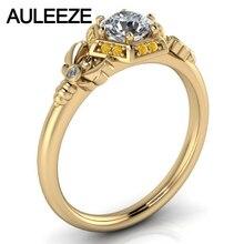 Honeycomb Hexagonal Halo Diamond Jewelry Solid 10K Yellow Gold Wedding Ring 1CT Simulated Diamond Engagement Rings For Women