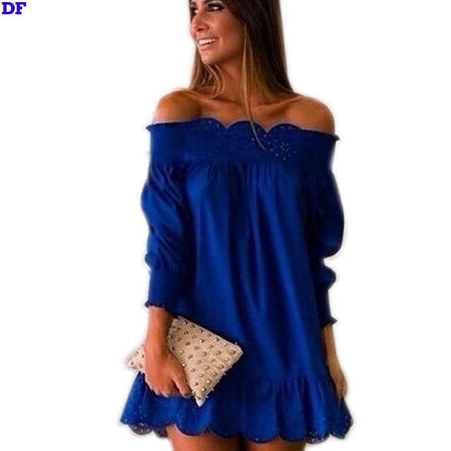 Brand New 2017 Summer Dress Fashion A-Line Women Plus Size Mini Dress Summer Style Hollow Sexy Clubbing Party Dresses Vestidos D