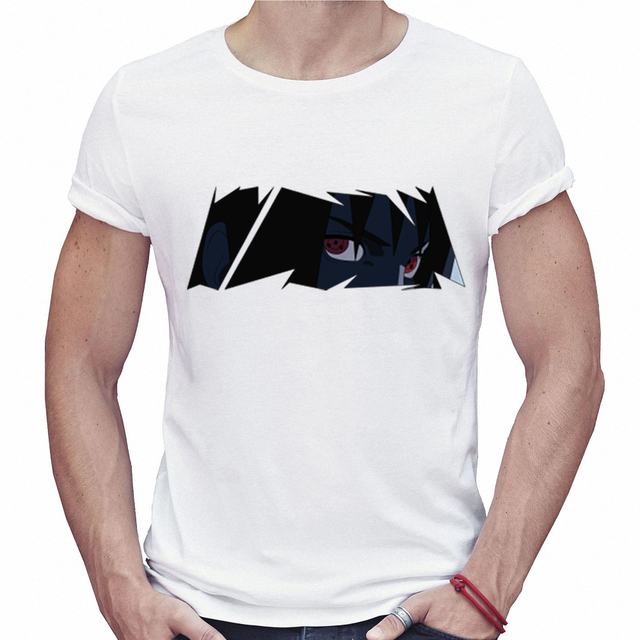 Naruto Men Off White T shirt