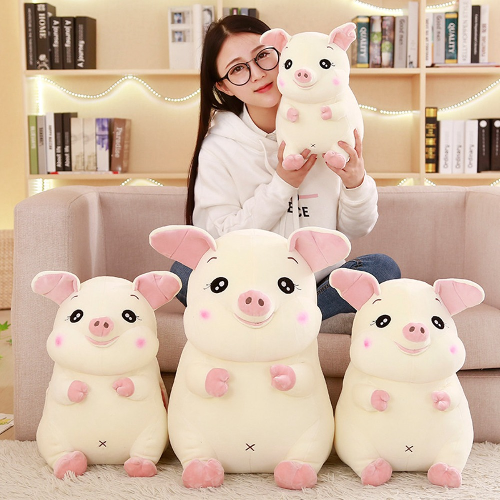 30/40/50 cm Soft Pink Pig Plush Toy Soft Stuffed Cute Animal Pig Lovely Dolls for Kids Appease Toy Baby's Room Decoration free shipping new 4 pcs set family pig plush doll soft toy father and mother pig and george 7 8 19 30 cm retail page 2