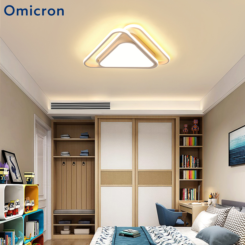 Omicron Modern LED Triangle Chandeliers Ceiling LED Bulbs LED Lights For Living Room Lighting Bedroom Children Room Lamp chandeliers lights led lamps e27 bulbs iron ceiling fixtures glass cover american european style for living room bedroom 1031