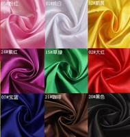 12 Colors Selection Polyester Satin Material For Clothing Linings Gift Soft Charmeuse DIY Handmade Crafts Thick