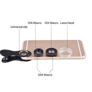 Image 2 - APEXEL Profesyonel 12X/24X Makro lens Cep Telefonu Kamera Lensi Süper Makro iPhone 6 6 artı Ve tüm akıllı telefon