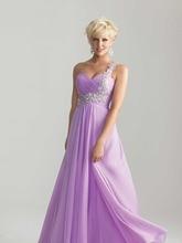 Kurze Kleider Neue Bunte A-line Eine Schulter Appliques Lange Abendkleid Bodenlangen Sweetheart Abendkleid Formale Kleid F490