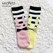 10 пар осень-зима гольфы детские гольфы для девочек мультфильм кролики Асимметричные носки Детские носки