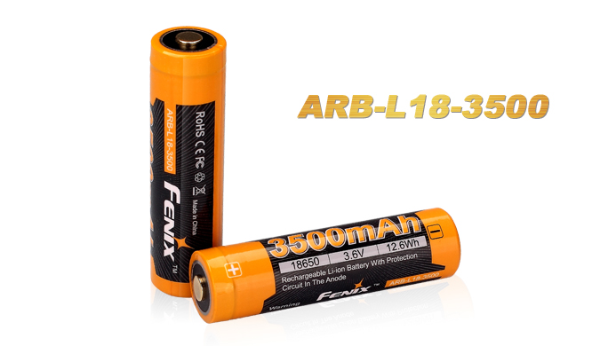 2016 Fenix New ARB-L18-3500 3500mAh rechargeable Li-ion battery with PCB аккумулятор fenix arb l18 2600