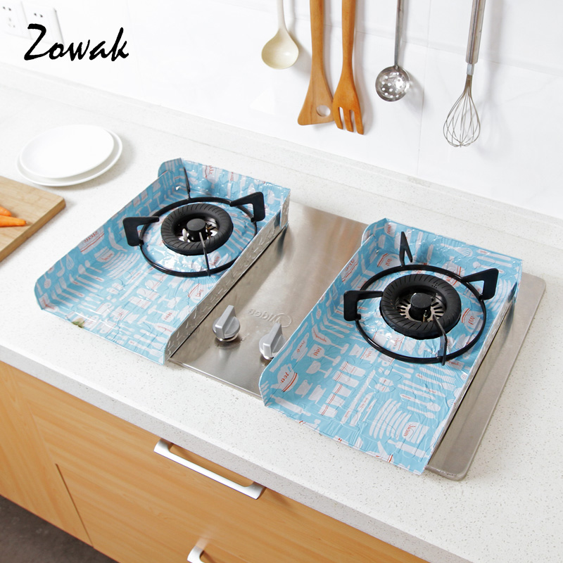 2pcs Gas Stove Oil Splash Protector Burner Cover Cleaning