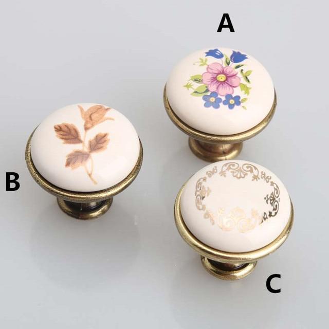 Drawer Knobs Pulls Dresser Pulls Knobs Village Rural Ceramic Furniture  Knobs Classical Style Handles Small Knobs