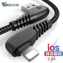 TIEGEM 90 DEGREE USB Cable For iPhone X 8 7 6 5 6s plus Cable Fast Charging Cable Mobile Phone Charger Usb Data Cable 1M 2M 3M cheap Apple iPhones 8 Pin USB Cable for iphone 8pin Cable Fast Charging Cable Charger Cable Data Cable charger cable for iPhone 8 8 Plus X 7 6