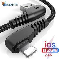 TIEGEM 90 GRADI Cavo USB Per il iphone X 8 7 6 5 6 s plus Cavo Veloce Cavo di Ricarica Mobile caricatore del telefono Cavo Dati Usb 1M2M3M