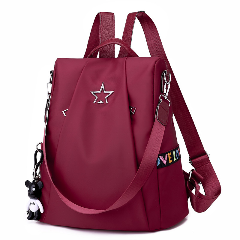 acf4a6288e1e US $14.88 39% OFF|Ataxzome Fashion Oxford Backpack Girl Schoolbag for  Teenagers Casual Shoulder Bag Female Large Capacity Women Theft Backpack-in  ...