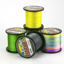 Super Strong Pulling 1000m Fishing Line 4 Strands Braided Fishing Wire High Strength Durable Multicolor PE Line 0.4-10#