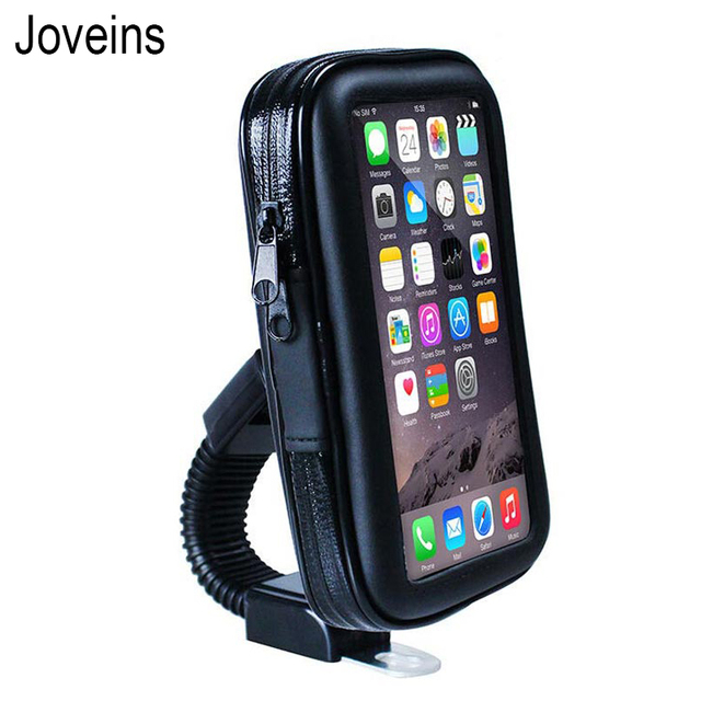 Joveins Waterproof Motorcycle Motorbike Mobile Phone Holder Bag Case For iPhone X 8 7 6s Samsung Mount to Rearview Mirror Stand