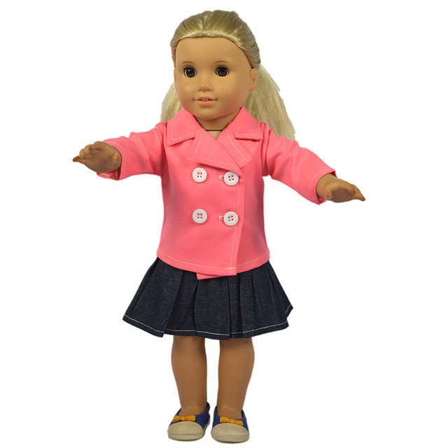 18 american Girl Doll Clothes Pink Outwear and Black Leggings