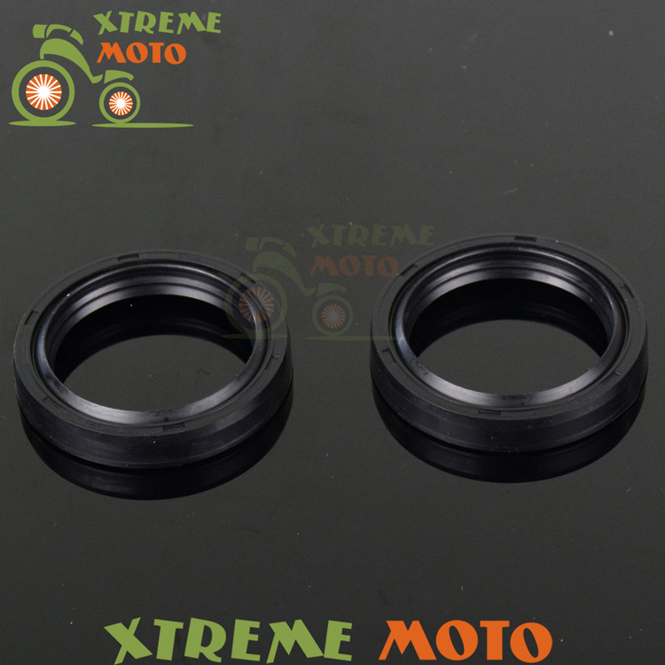 Shock Absorber Fork Dust Oil Seals For Kawasaki ZX600 ZX636 KLE650 VN800 VN900 ZR1000 ZG1200 <font><b>VN1500</b></font> Motorcycle Motocross Enduro image