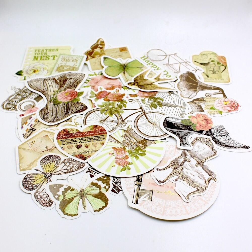 Scrapbook paper cardstock - 25pcs Vintage Car Cardstock Die Cuts For Scrapbooking Card Making Journaling Project Planner Diy