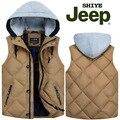 2017 НОВОЕ прибытие Jeep AFS JEEP осень зима мужская с капюшоном гладкий утка вниз жилет мужской моды случайные M L XL 2XL 3XL 4XL5XL