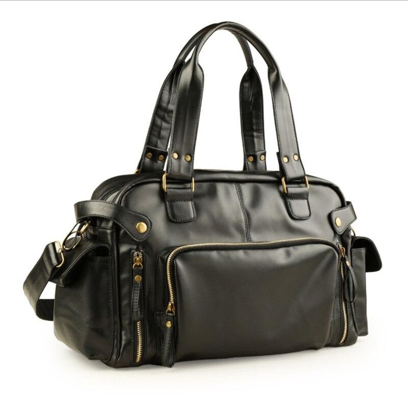 Pu-leder Tasche Lässig Männer Handtaschen Männer Umhängetasche Männer Reisetaschen Laptop Aktentasche Für Mann