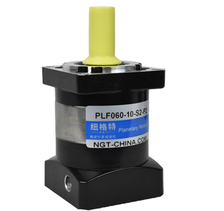 PLF60-10-S2-P2 60mm planetary gear reducer Ratio 10:1 for 200w 400w AC servo motor shaft 14mm diameter high precision 3 stages lrh90 19mm 12 arcm planetary gear reducer disc type ratio 80 1 100 1 for nema32 80mm servo motor