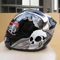 Arai casco integral de motocicleta de la manera abs motocross moto racing cascos de moto negro fresco del diseño del cráneo para cuatro temporadas