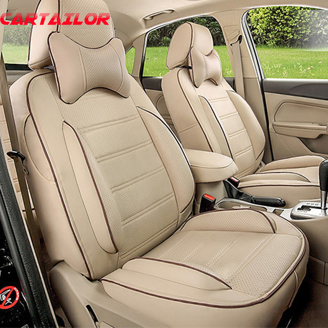 CARTAILOR Cover Seats Fit For Toyota Fortuner Car Seat Protector PU Leather Set