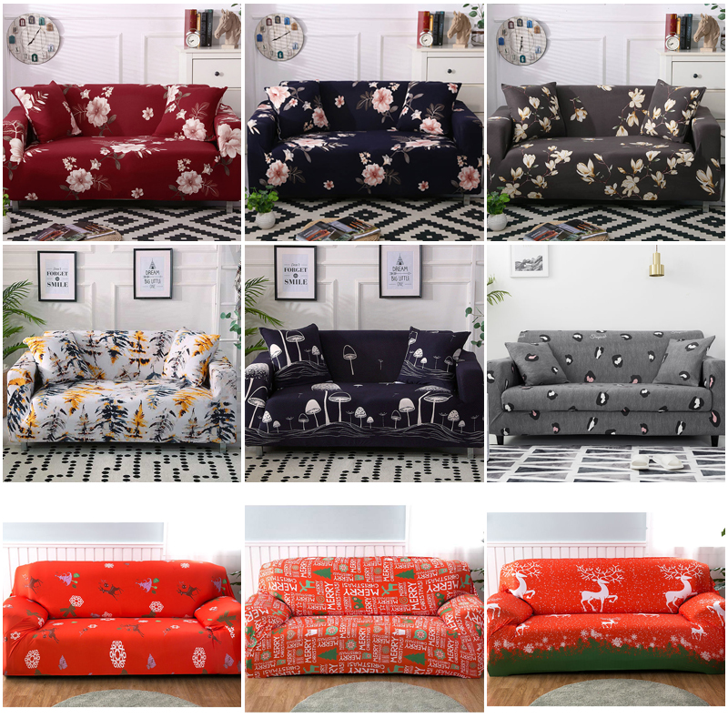 1/2/3/4 Seater Stretch Slipcovers Sofa Cover Set Elastic Couch Cover Sofa Covers For Living Room Cubre Sofa L Shape Chair Cover
