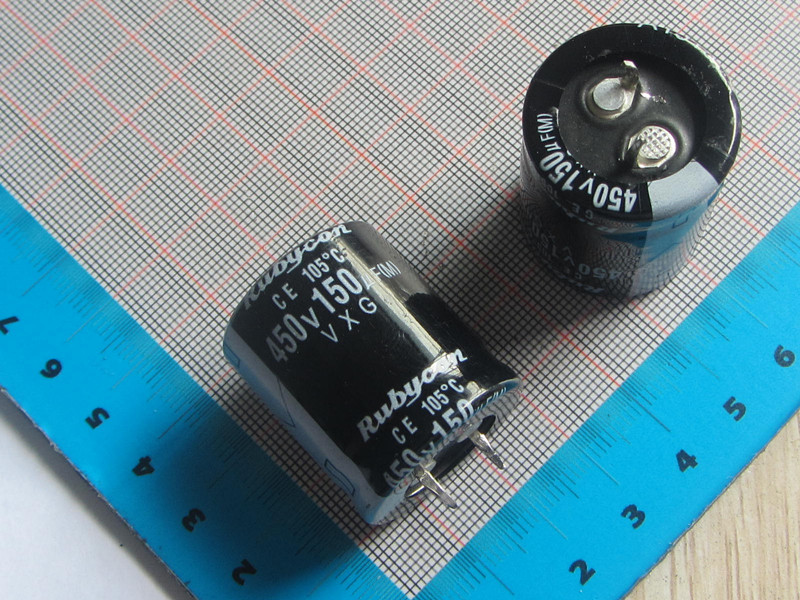 Free Shipping 50pcs/lot high Quality DIP Aluminum Electrolytic <font><b>Capacitor</b></font> <font><b>450V</b></font> <font><b>150UF</b></font> 25*30MM electrolytic <font><b>capacitor</b></font> <font><b>150uf</b></font> image