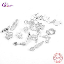 A pair of 925 sterling silver Pendant 18 kinds of styles to choose,Necklace bracelet making DIY,jewelry accessories for women