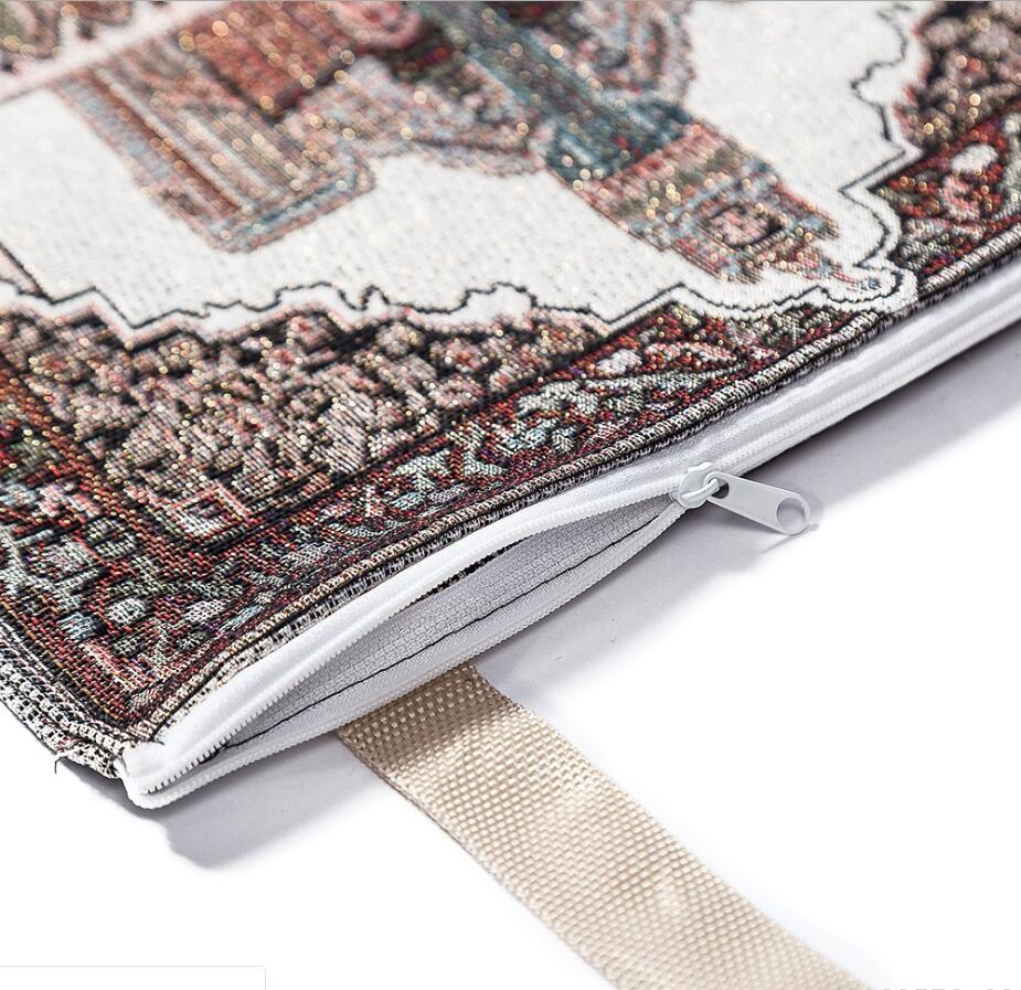 Image 4 - Cotton Yarn Muslim Prayer Rug Grey Rug for Living Room Kitchen  Rug Rectangle Small Carpet Indian Rugs Tassel Outdoor Tiles MatIslamic  Clothing