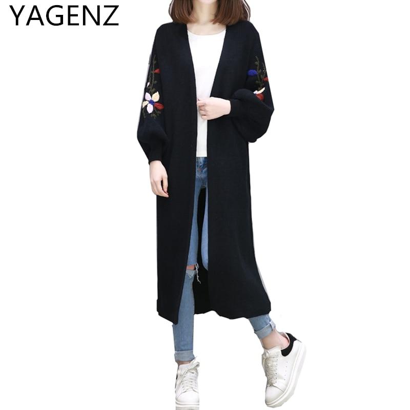 0da6b4cf16 YAGENZ-Fashion-New-Spring-Lavorato-A-Maglia-Cardigan-Cappotto-Donna -2017-Della-Corea-del-manicotto-Della.jpg
